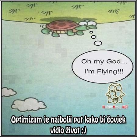 Optimizam je najbolji put kako bi čovjek vidio život :)
